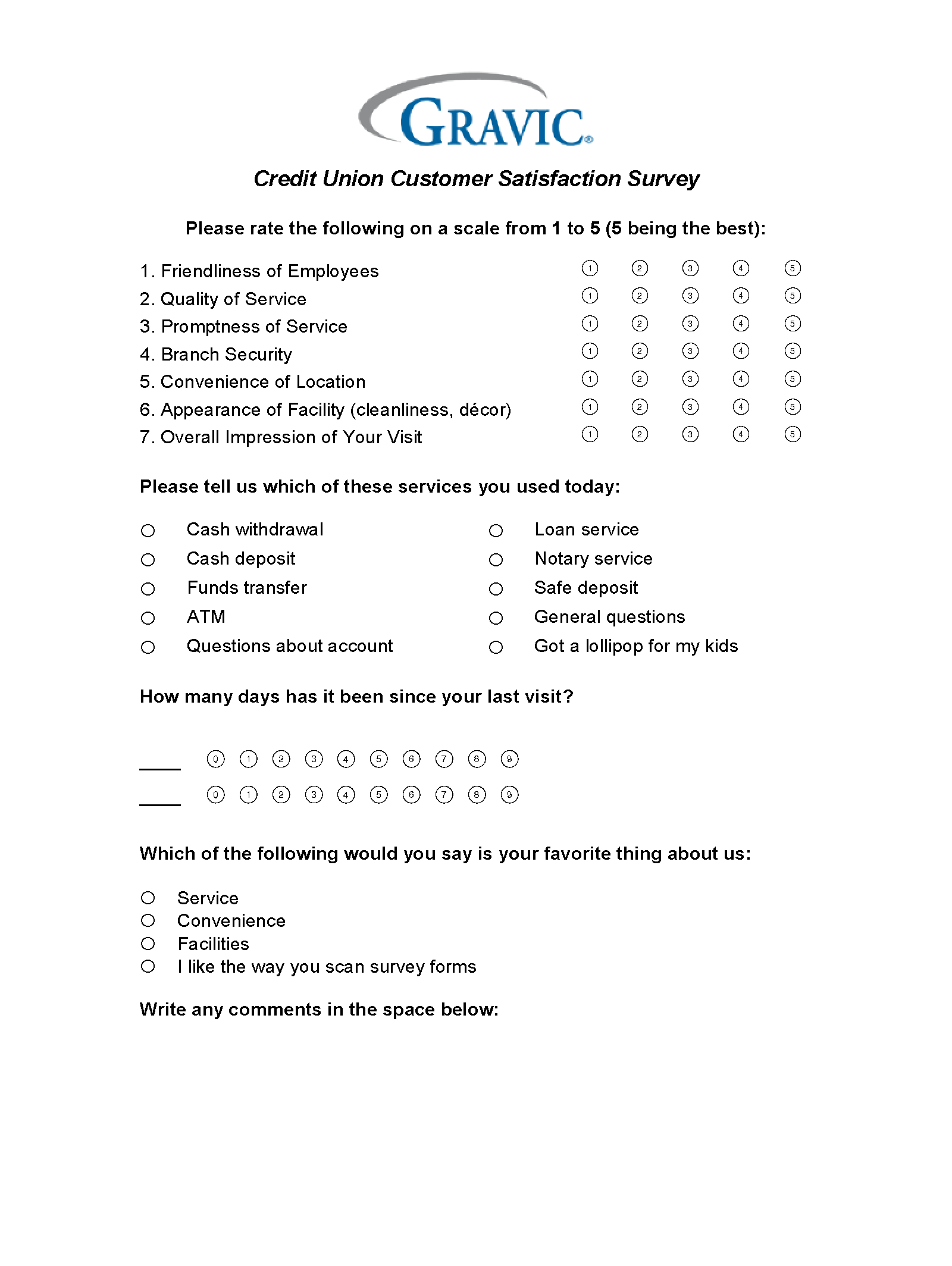 Credit Union Survey  Free Customer Satisfaction Survey Template