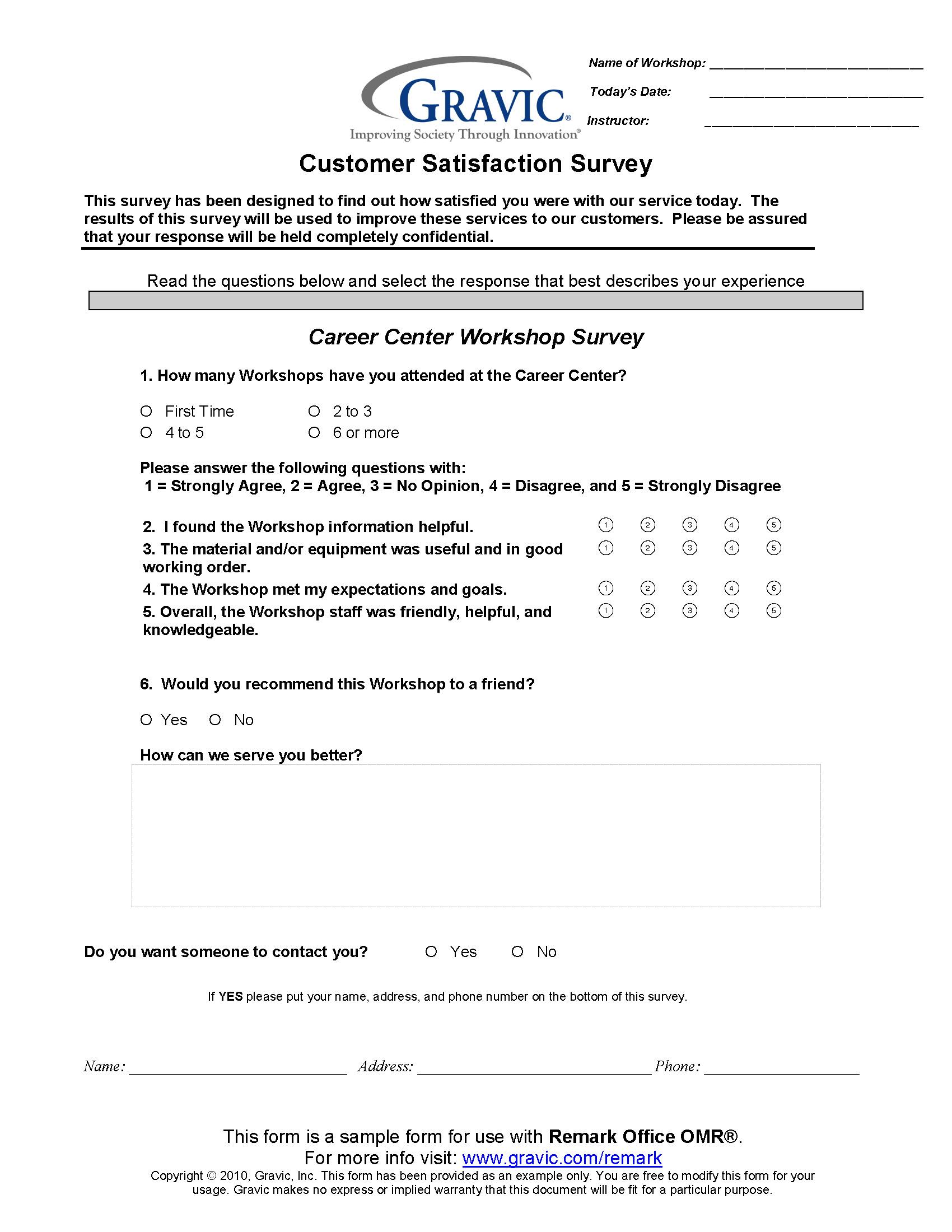 Questionnaire on store design