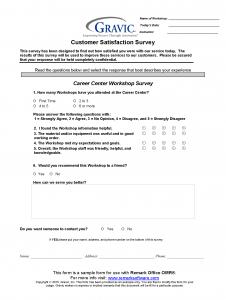 Workshop Survey for Remark Office OMR