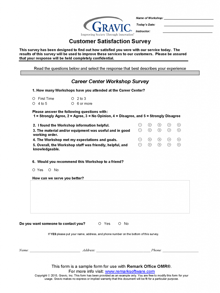 Workshop-Survey