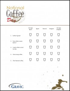 National Coffee Day 2015 Sample Form for Remark Office OMR