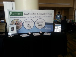 Remark Software's booth at AEA's annual meeting 2014