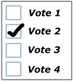 Paper ballot for scanning