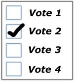 Paper ballot for scanning