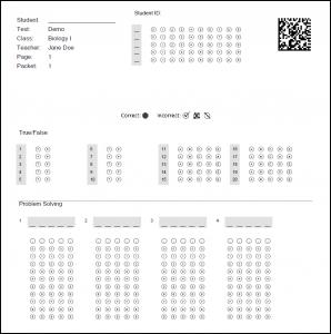 Remark Test Grading Edition Answer Sheet Designer