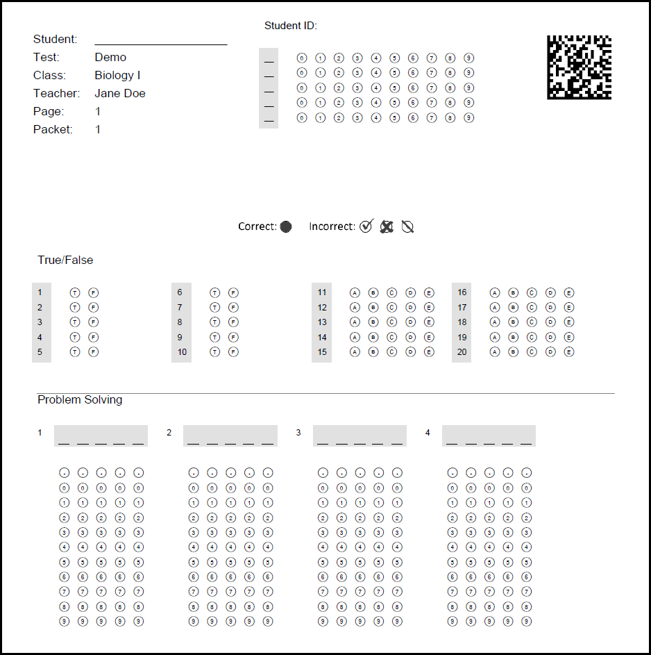 Remark Test Grading Edition Answer Sheet Designer