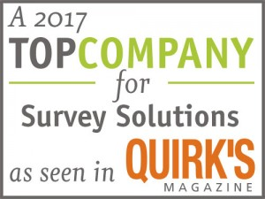 Gravic's Remark Software products are recognized as a 2017 Top Company for Survey Solutions by Quirks Magazine