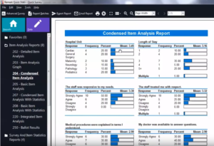 Remark Quick Stats - Quick Survey - Condensed Item Analysis reports in Remark Office OMR