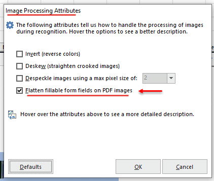 Image Processing - Flatten Fillable PDF Images