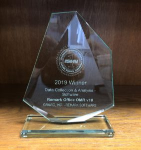Remark Office OMR Wins ISHN Reader's Choice Award for Data Collection and Analysis Software
