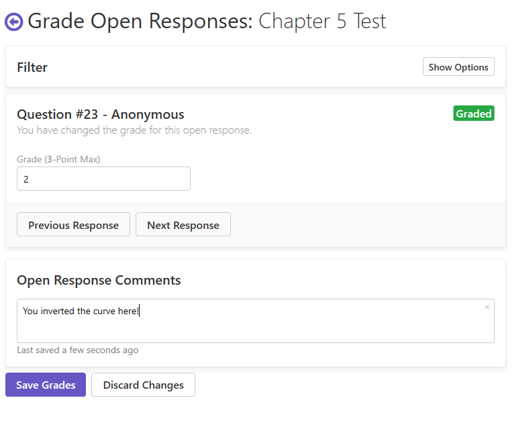 Grading open response questions in Remark Test Grading Cloud