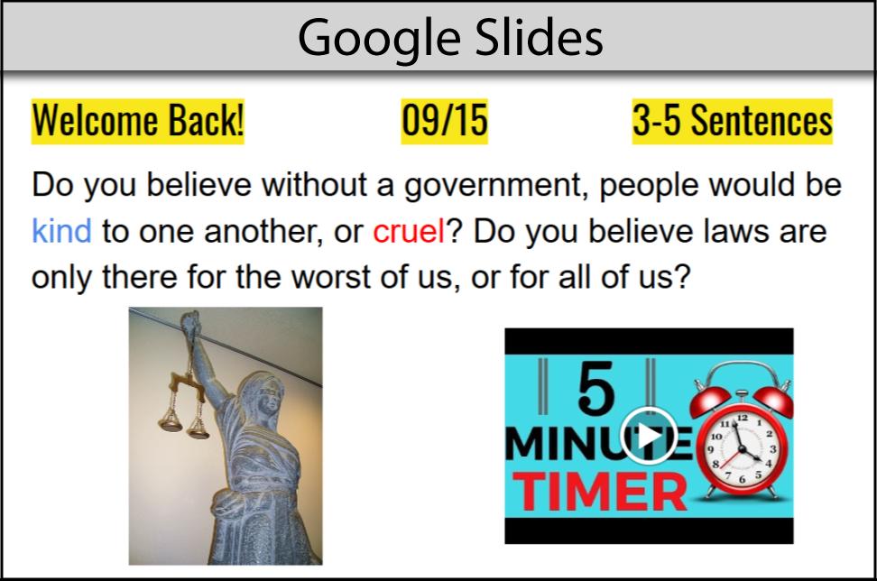Google slides example for remark