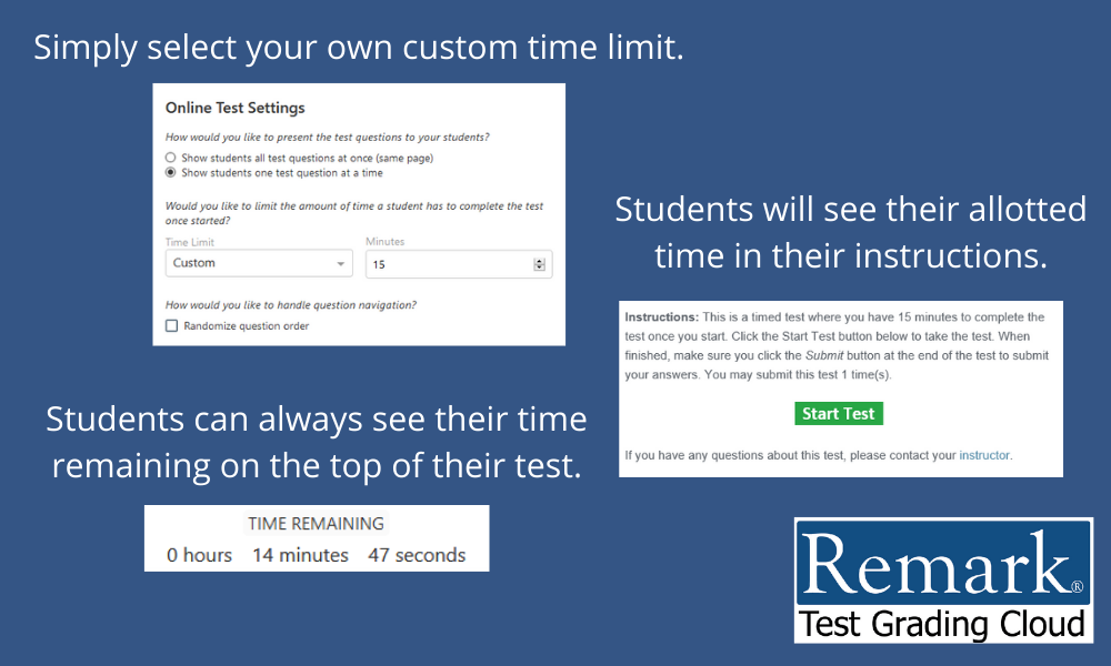 RTGC Time Limit for Tests