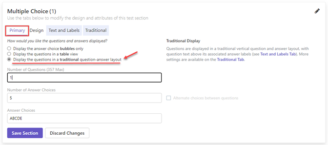 Remark Test Grading Cloud question and answer display